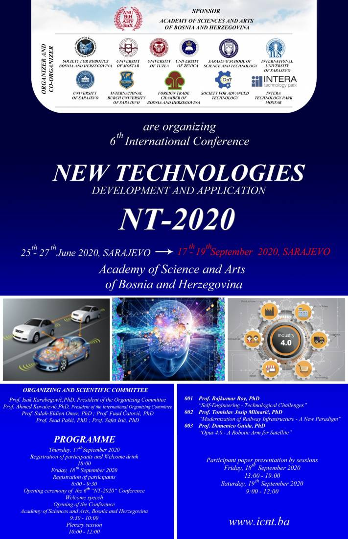 NT-2020 Conference will be held on 17th September 2020.